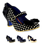 Womens Poetic Licence Miss Thing Mid Heel Polka Dot Work Court Shoes UK 3.5-8.5