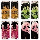 HEAD CASE HAND DRAWN ANIMALS SILVER GLITTER CASE FOR APPLE iPHONE SAMSUNG PHONES