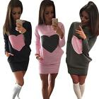 Women Natural Princess Long fashion Sleeve Pullover Winter Package Hip Dress