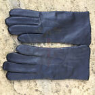 NEW DUTCH ARMY SURPLUS ISSUE BLACK LINED LEATHER UNIFORM DRESS PAIR OF GLOVES