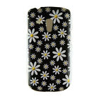 For SamsungGalaxy S3 mini i8190 Cute Daisy Flower Style Back Black Case Cover