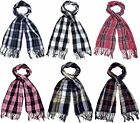 91234- Ladies Checked/Tarten Scarf 5 Colours- Great Price!