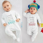 I love Mum Dad Baby Infant Boy Girl Bodysuit Cotton One-pieces Rompers 0~24M