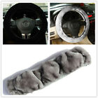Soft Warm plush Winter Steering Wheel Cover Imitation Wool Car Accessories hot