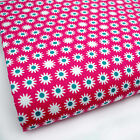 CERISE PINK - SLEEPY DAISY GEOMETREIC 100% COTTON FABRIC 160cm OEKO-TEX