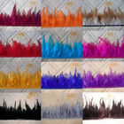 Beautiful Dyeing pheasant Neck Feather Fringe Trim 3-5inch 12 color choice