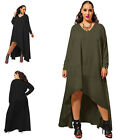 Plump Lady Womens High Low Maxi Long Asymmetric Deep V Neck Clubwear Party Dress