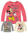 Girls Disney Minnie Mouse TShirt New Kids Long Sleeved Cotton Rich Top 2-8 Years