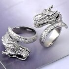 Men's Punk 316L Stainless Steel Dragon Wrap Heavy Biker Finger Ring Jewelry Gift