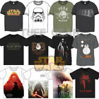 Mens Official Star Wars Force Awakens T-Shirt Retro Vintage Short Sleeve Top New