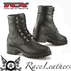 NEW TCX LADY SMOKE WOMENS LACE UP BLACK SHORT MOTORCYCLE MOTORBIKE BOOTS