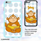 PERSONALISED Custom Cartoon Cute Monkey Hard Case Cover for Apple iPhone