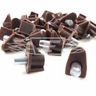 BROWN Ø5mm SHELF SUPPORT STUD PEGS, KITCHEN CABINETS STEEL PEG PLUG AT9