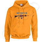 AR-MERICA ADULT Hooded Sweatshirt AR-15 Rifle USA Patriotic Hoodies - 1095C