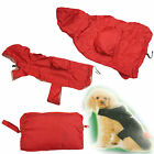 Fold Away Bag Dog Coat Rain Jacket Pocket Warterproof Washable Chest Dry Hood