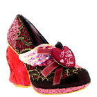 Womens Irregular Choice True Love High Heel Love Heart Light Up Shoes UK 3.5-8