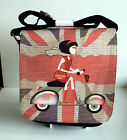 Scooter Bag Handbag Shoulder Bag, Mod Scooter Bag, Scooter Girl Union Jack Bag