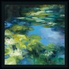 Water Lilies II Julia Purinton Blue Green Framed Art Print Artwork Picture