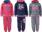 Girls Jogging Suits Tracksuits Hoodie Top & Joggers Kids Clothes Ages 3-10 Years