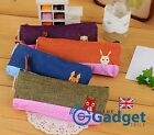 Kawaii Cute Animal Pencil Pouch Case - Fox Rabbit Deer Squirrel Design Canvas