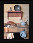 The Kitchen Sink Billy Jacobs 16x12 Primitive Country Still Life Framed Art