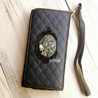Gothic Skull phone Leather Pouch case Wallet Purse cover For Samsung S7 Note 5 7