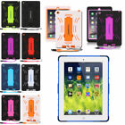 Military Heavy Duty Armor Shockproof Stand Hard Case Cover For iPad 2 3 4 Mini