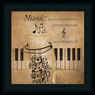 Music Makes Your Feet Want to Dance Piano Keys Art Print Framed
