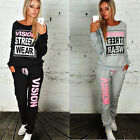 2Pcs Set New Women's Casual Hoodies Tracksuit Sweatshirt Pants Jogger Sportswear