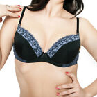 Bra by FV Push-Up T-Shirt Underwire Padded Demi Black
