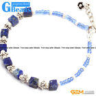"4mm Cubic Gemstone Handmade Finished Bracelet 7 1/2"" New Fashion Jewelry"