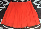 Arden B Orange Pleated Skirt Lined Mini Skirt Size 2 NEW WITH TAG!