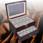 6/10/12/20/24 Wood Watch Display Case Glass Top Jewelry Storage Organizer GiftsBoxes, Cases & Watch Winders - 173695