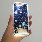 Cartoon Little Prince Galaxy Stars LED Flash Lighting Case Cover For iPhone 6 6S