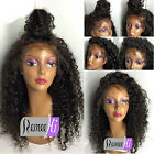 Brazilian Deep Curly Human Remy Hair Front Wigs Full Lace Wig Baby Hair Around