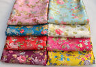 1/2 YARD CHINESE SILK DAMASK JACQUARD BROCADE FABRIC: FANTASY PHOENIX FLOWER