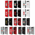 LIVERPOOL FC LFC CREST 1 LEATHER BOOK CASE FOR BLACKBERRY ASUS ONEPLUS PHONES