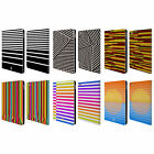 HEAD CASE DESIGNS DYNAMIC STRIPES LEATHER BOOK WALLET CASE COVER FOR APPLE iPAD