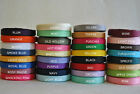 "Wholesale Grosgrain Ribbon lot 1/4"" 5 yards you pick color"