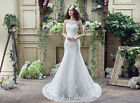 Stock Empire Sheath Tulle Wedding/Bridal Dresses Gown US Size 4 6 8 10 12 14 16