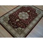 PERSIAN HAND CARVED TRADITIONAL RUG LOUNGE RED VINTAGE CLASSIC RUG