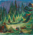 "EDVARD MUNCH ""The Fairytale Forest"" beautiful boy girl foliage autumn danger NEW"