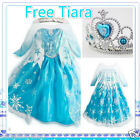 FROZEN Elsa Princess School Birthday Party Costume Dresses AGE SIZE 3 4 5 6 7 8Y
