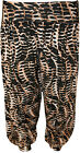 New Womens Plus Size Snake Print Baggy Ladies Cuffed Harem Pants Trousers 12-26