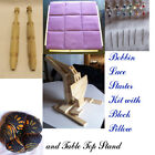 Bobbin Lace Making Kit with Table Top Stand, Block pillow, 24 bobbins & more!