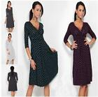 Half Sleeve Women Lady Polka Dot Gorgeous Maternity Dress Vneck Pregnancy Dress