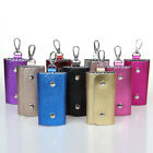 Good Quality Genetic Leather Key Bags Bright Colors Men Women Key Holder Package