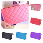 Women Zipper Closure Small Cosmetic Case Makeup Bag Storage YS