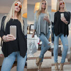 Womens Casual Long Sleeve Plus Casual T-Shirt Pullover Loose Jumper Blouse Tops