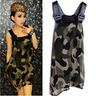 Kawaii Clothing Cute Ropa Korean Japanese Harajuku Dress Camouflage Army Vestido